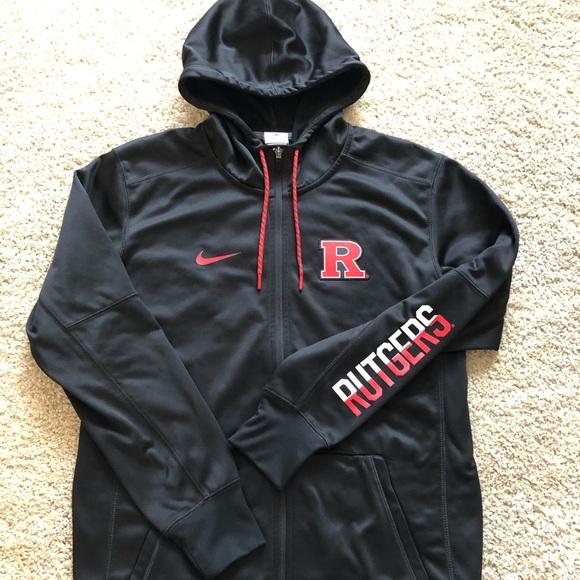 online retailer da5ee da7bb Rutgers Scarlet Knights NCAA Nike Zip Up Hoody. M 5c0882290cb5aae9c6bf349c